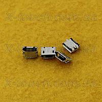 Разъемmicro-B USB 5pin с бортиком
