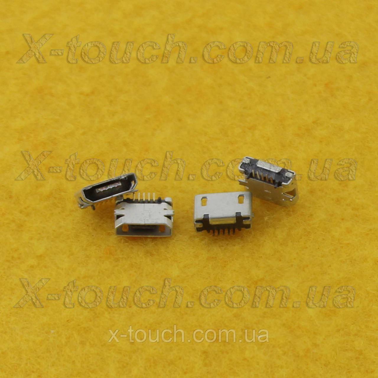 Разъем micro-B USB 5pin с бортиком