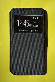 Чехол-книжка Premium для Samsung J710 / Galaxy J7 (2016) с/о (с окном) Black (черный)