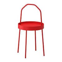 BURVIK, столик придиванный, красный