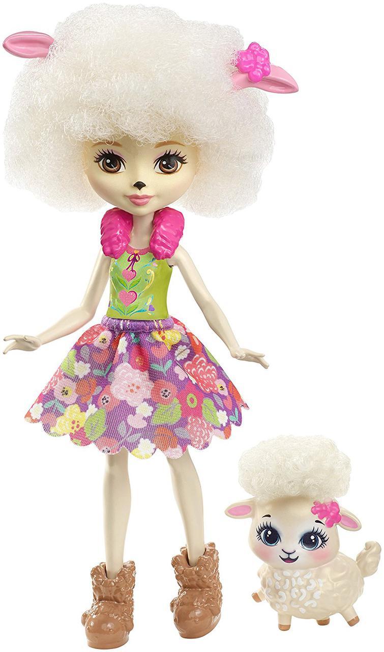 Кукла Энчантималс Барашка Лорна и Флаг Enchantimals Lorna Lamb Doll