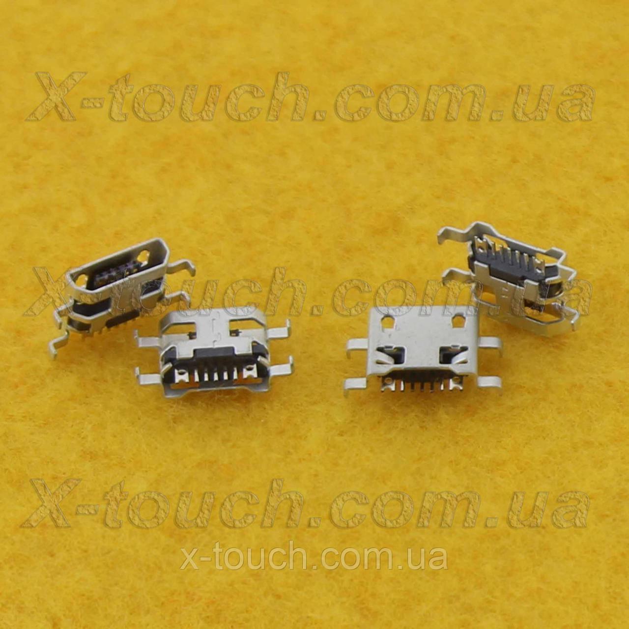 Роз'єм micro-USB B 7pin без бортика, подовжені контакти.