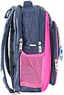 Рюкзак школьный серый с розовым Котята, фото 2
