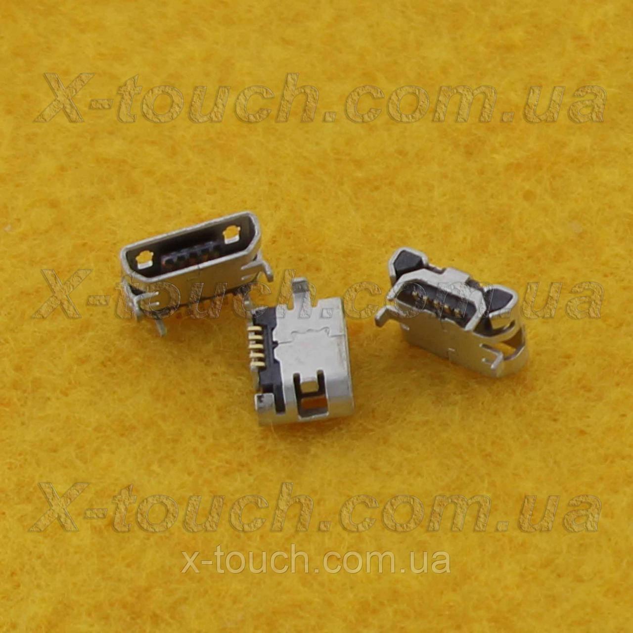 Разъем micro-B USB 5pin без бортика