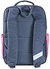 Рюкзак школьный серый с розовым Котята, фото 3