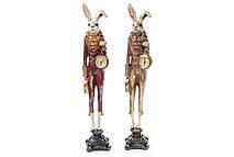 Декоративная фигура с часами Белый Кролик 54см, 2 вида