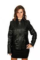 Кожаная женская демисезонная куртка, фото 1