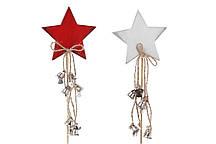 Новогоднее украшение Звезда с декором 31см, 2 вида