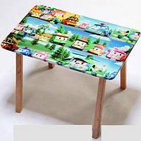 """Столик и два стульчика деревянные """"Робокар Поли"""" С 027"""