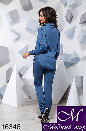 Женский синий спортивный костюм без капюшона (р. 42, 44, 46) арт. 16346, фото 2