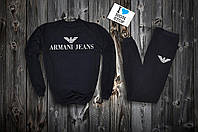Трикотажный спортивный костюм Armani Jeans logo