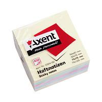 Блок бумаги Axent 2324-00-A с липким слоем, 75x75 мм, 450 листов, пастельные цвета