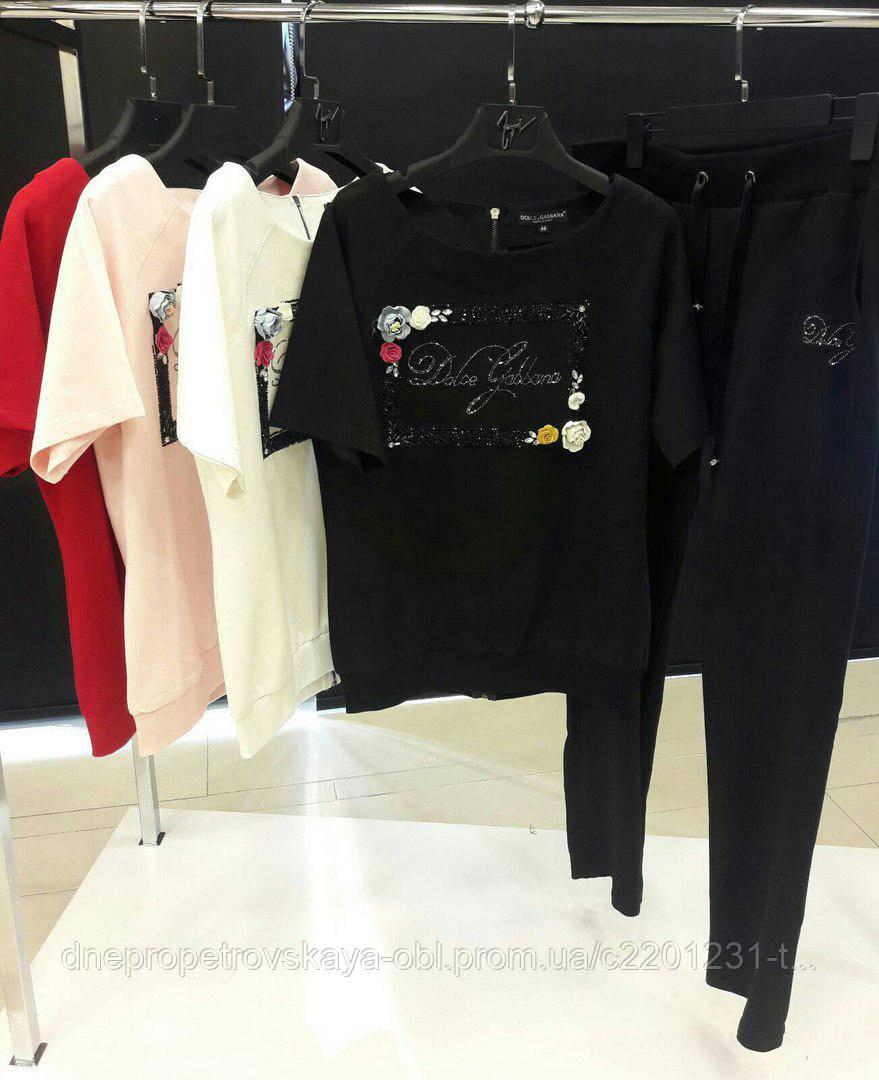 Турецкий спортивный костюм Dolce&Gabbana батал 50 52 54 56р. Турция люкс