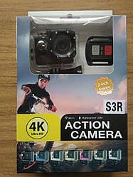 Экшен камера Action camera S3R с 4К с пультом