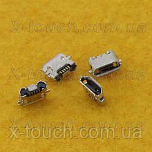 Роз'єм зарядки micro-B USB 5pin з бортиком