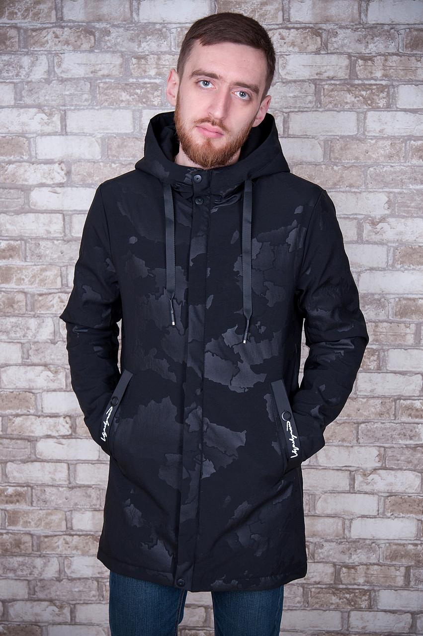 Камуфляжная мужская куртка весна-осень, Цвет - черный - Интернет-магазин  мужской одежды 811c50fc0bd