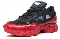 Кроссовки Adidas х Raf Simons, цвет черно-красный