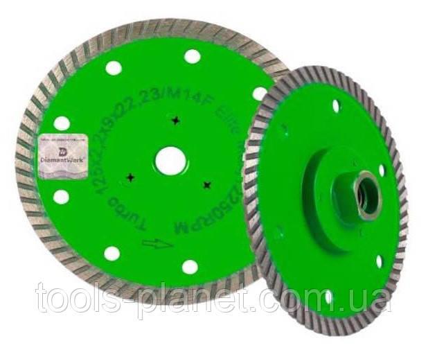 Алмазный диск Distar 1A1R Turbo 125 x 2,2 x 10 x 22,23 / M14F Elite 5D (10179023011)