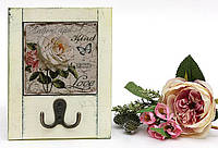 Вешалка с двойным крючком Roses 18см, 3 вида
