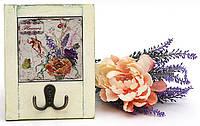 Вешалка с двойным крючком Цветы 18см, 2 вида