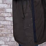 Чоловіча демісезонна куртка (подовжена), кольору хакі, фото 4