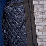 Чоловіча демісезонна куртка (подовжена), кольору хакі, фото 6