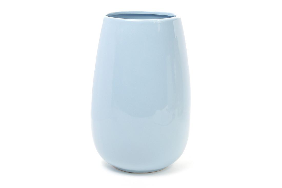 Керамическая ваза 19.6см, цвет голубой