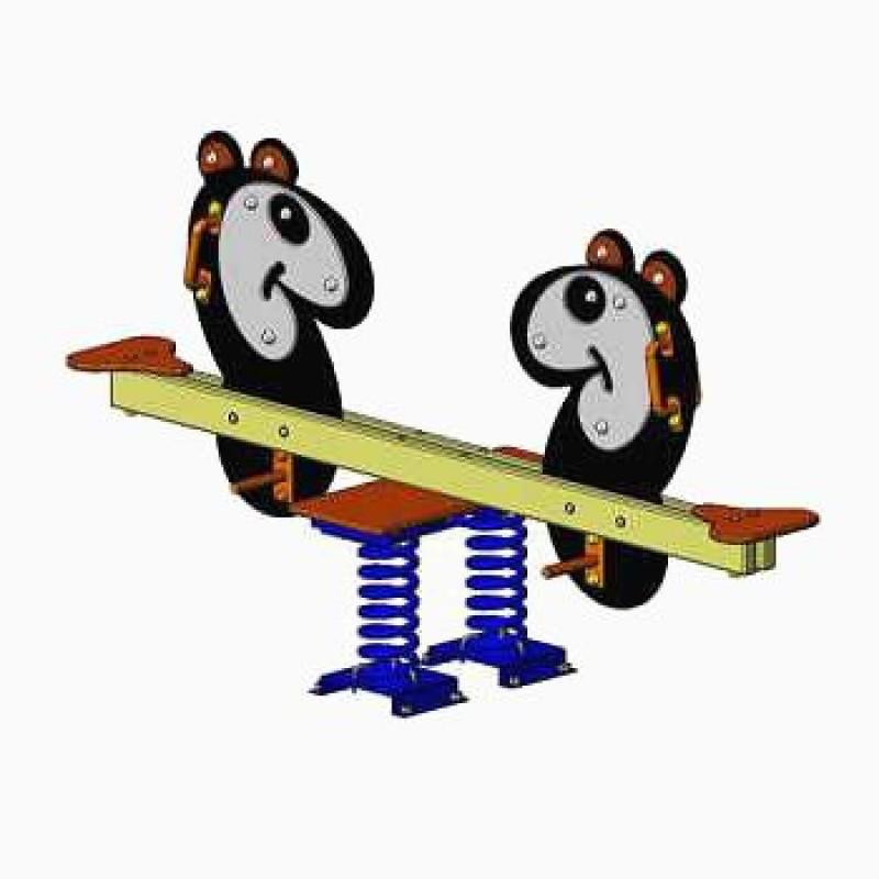 Балансир на пружинах Панда