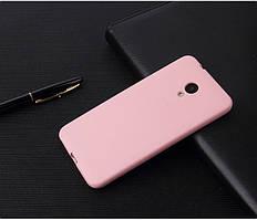 Чехол Бампер Style для Meizu M6s силиконовый розовый