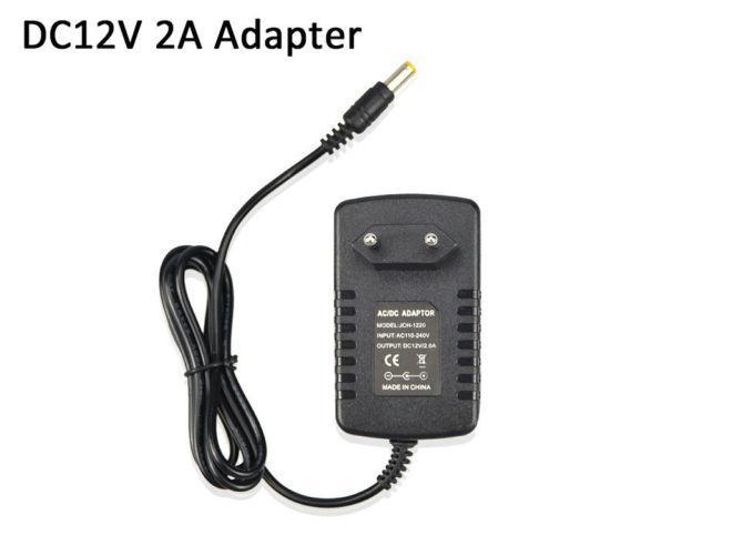 Блок питания 12В 2А, сетевой адаптер CCTV, LED лент, Arduino