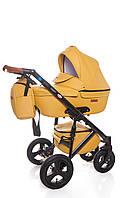 Универсальная детская коляска Broco Capri 2 в 1 Melon, Эко-кожа