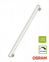 Линейная диммируемая 2-pin лампа Osram LEDinestra S14s 9Вт 450Лм 50см с теплым светом