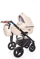 Универсальная детская коляска Broco Capri 2 в 1 Ecru, Эко-кожа