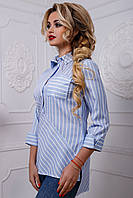 Рубашка 12-2564 -  голубой:  M L XL XXL