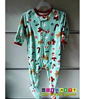 Слипер Флисовый Carter's Человечек новогодняя тематика Пижама детская