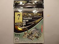 Крючки Kamatsu оригинал tomaru gold 7 ( карп, амур, сазан), фото 1