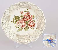 Блюдо фарфоровое 20см Корейская роза