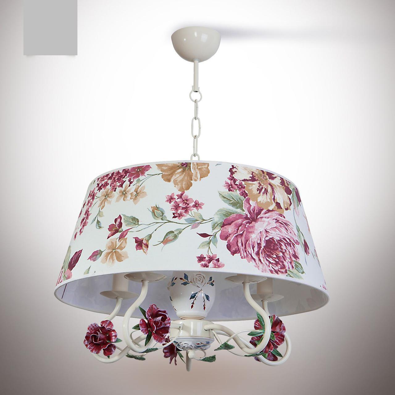 Люстра цветочная с абажуром  для небольшой комнаты, для спальни, зала 7155-2