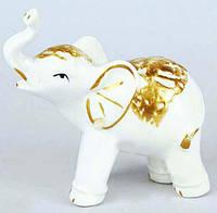 Декоративная фарфоровая статуэтка Слоник 10см