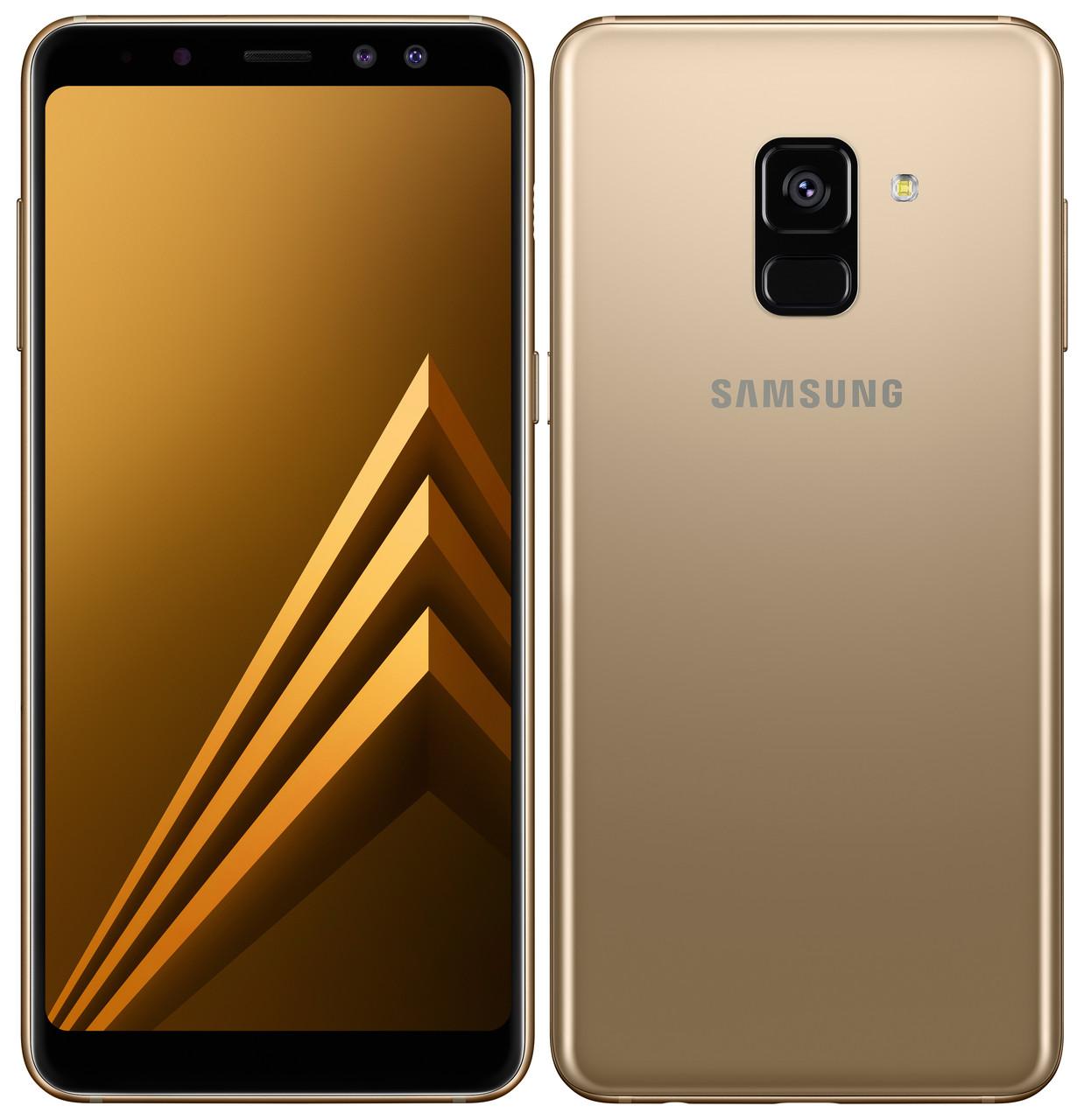 "Смартфон Samsung Galaxy A8+ 2018 (SM-A730FZDD) Gold, 4/32Gb, 8 ядер, 16/16+8Мп, 6"", 2 sim, 4G, 3500мАh."