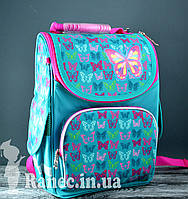 Рюкзак каркасный  Smart 554449 PG-11 Butterfly turquoise, 31*26*14