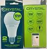 Лампа светодиодная CRYSTAL LED A60 10W E27 4000K