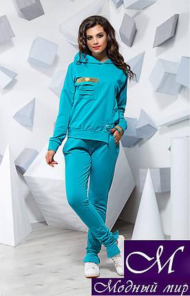 Женский стильный голубой спортивный костюм (р. S, M, L) арт. 16225, фото 2