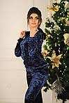 Стильный женский бархатный костюм, фото 5