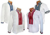 Украинская рубашка с вышивкой для мальчика подростка с воротничком стойкой, фото 1