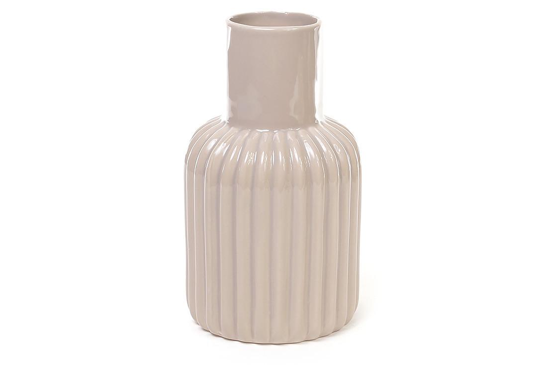 Керамическая ваза 18.8см, цвет бежевый
