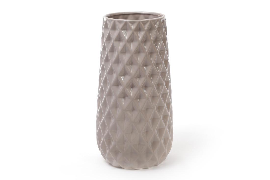 Ваза керамическая 31.5см, цвет - песочный
