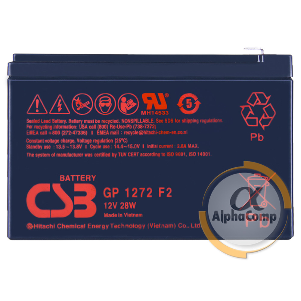 Аккумуляторная батарея CSB Battery GP1272 F2 7,2Ah 12V orig
