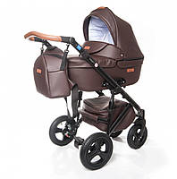 Универсальная детская коляска Broco Capri 2 в 1 Эко-кожа, Brown
