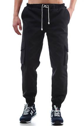 """Мужские черные штаны  карго """"Ястребь"""" Black (Чёрный) ART3001, фото 2"""